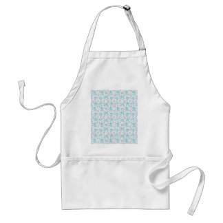 Intricate Floral Collage Standard Apron
