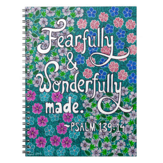 Intricate Floral Typography Bible Verse On Beauty Notebooks