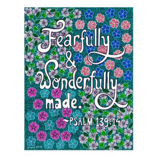 Intricate Floral Typography Bible Verse On Beauty Postcard