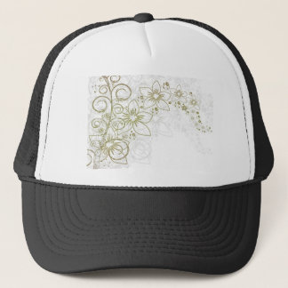 Intricate gold design trucker hat