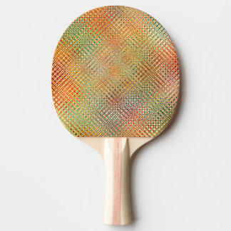 Intricate Gold Yellow Pink Red Green Pattern Ping Pong Paddle