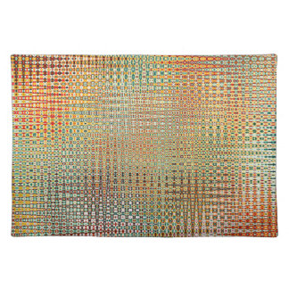 Intricate Gold Yellow Pink Red Green Pattern Placemat