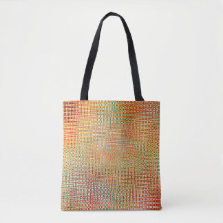 Intricate Gold Yellow Pink Red Green Pattern Tote Bag