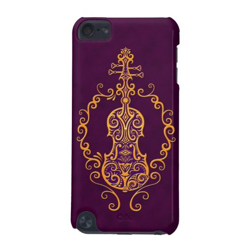 Intricate Golden Purple Violin Design iPod Touch (5th Generation) Case