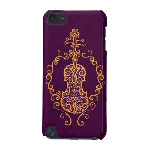 Intricate Golden Purple Violin Design iPod Touch (5th Generation) Case