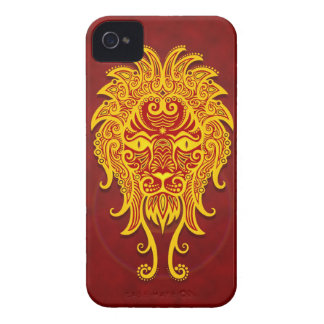 Intricate Golden Red Tribal Leo iPhone 4 Cover