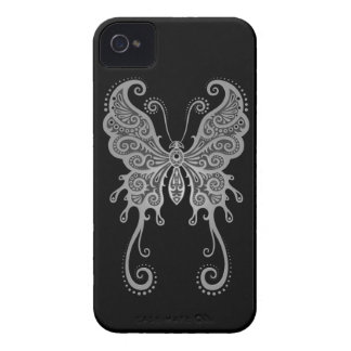 Intricate Grey Butterfly Case-Mate iPhone 4 Case