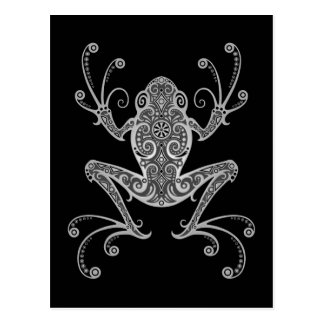 Intricate Grey Tree Frog Postcard
