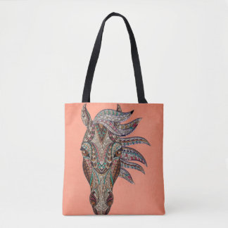 Intricate Horse Face Tote Bag