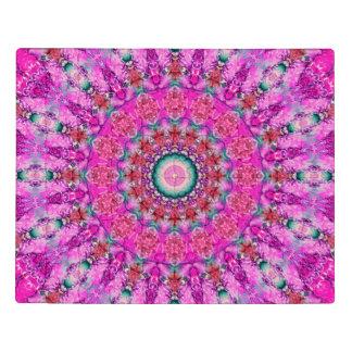 Intricate Magenta, Pink, and Teal Mandala Acrylic Jigsaw Puzzle
