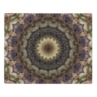 Intricate Muted Pastel Seashell Mandala Acrylic Jigsaw Puzzle