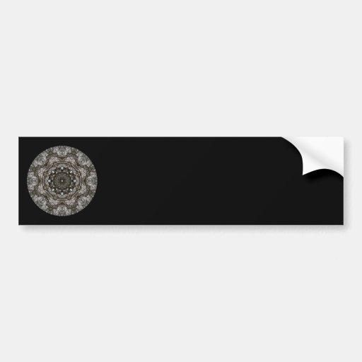 Intricate pattern. Decorative design. Black Bumper Stickers
