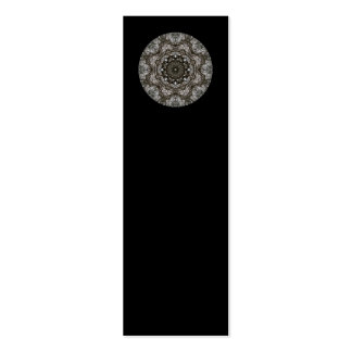Intricate pattern. Decorative design. Black Pack Of Skinny Business Cards