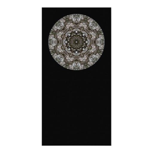 Intricate pattern. Decorative design. Black Customized Photo Card