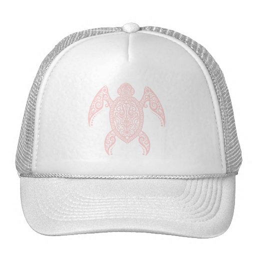 Intricate Pink Sea Turtle Hat