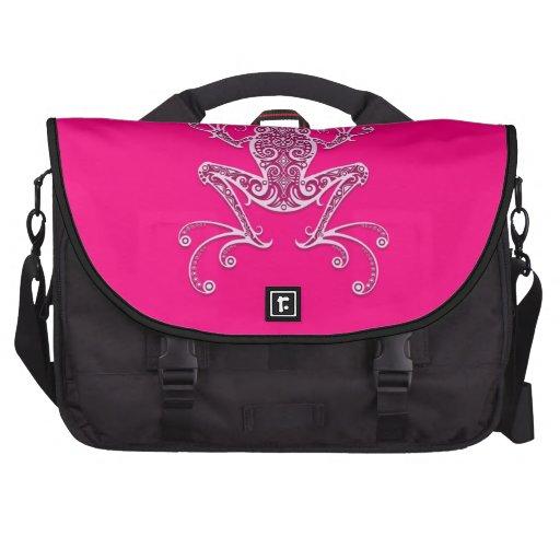 Intricate Pink Tree Frog Computer Bag
