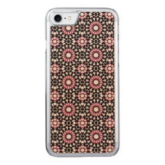 Intricate Pink, White and Black Pattern Carved iPhone 8/7 Case