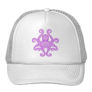 Intricate Purple Octopus Trucker Hat