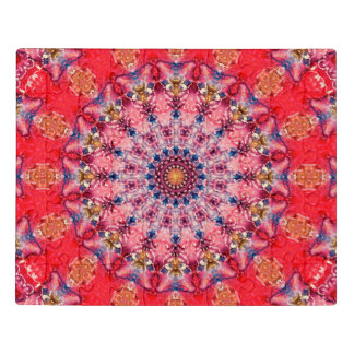 Intricate Red and Pink Mandala Acrylic Jigsaw Puzzle