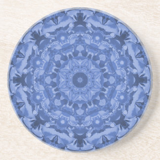 Intricate Royal Blue Kaleidoscope Coaster
