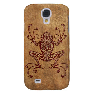 Intricate Vintage Tree Frog Galaxy S4 Cases