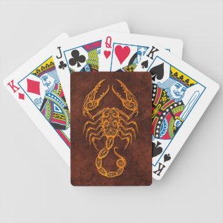 Intrictate Stone Scorpio Symbol Poker Deck