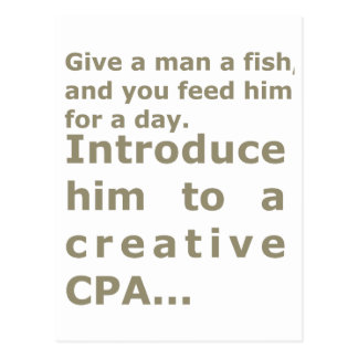 Introduce him to a creative CPA Postcard