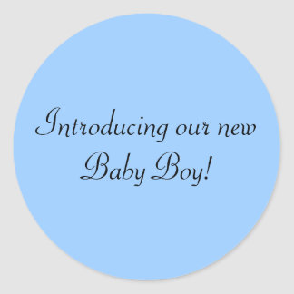 Introducing our new Baby Boy envelope seal Round Sticker