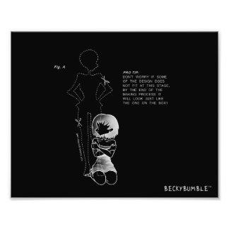 Introvert Art Print white on dark - Cutout