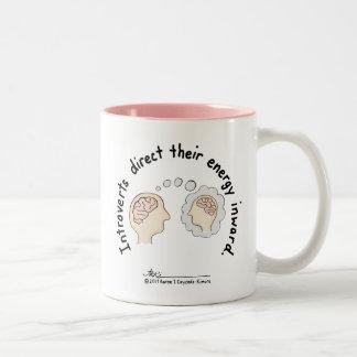 Introvert Basics: Energy Inward Pink Two-Tone Mug