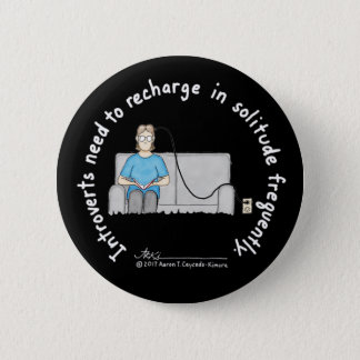Introvert Basics: Recharge Black Button