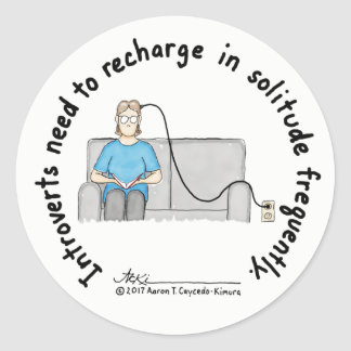Introvert Basics: Recharge Sticker