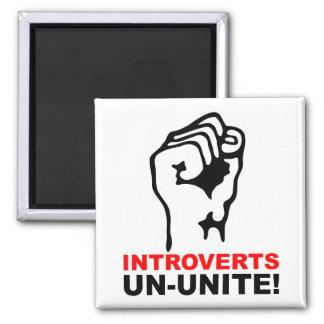 Introverts Un-Unite Funny Fridge Magnet