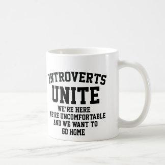Introverts Unite Basic White Mug