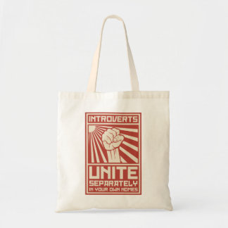 Introverts Unite Separately In Your Own Homes Budget Tote Bag