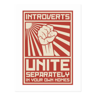 Introverts Unite Separately In Your Own Homes Postcard