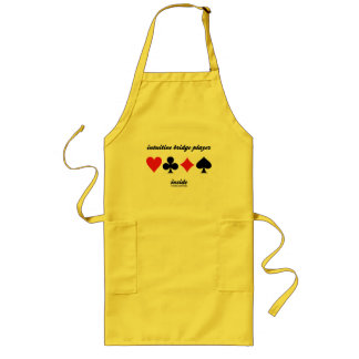 intuitive bridge player inside (four card suits) long apron
