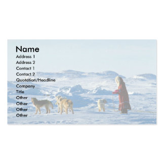 Inuit girls with their team Pelly Bay Business Card