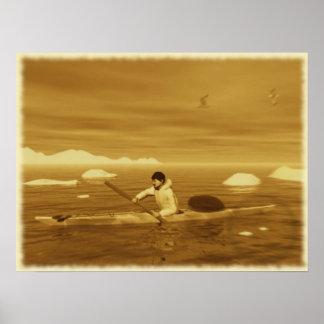 Inuit Kayak Poster