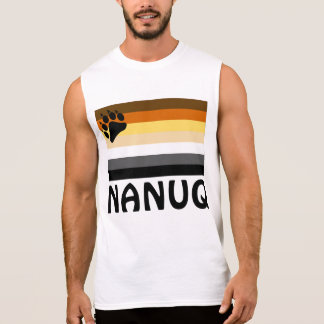 Inuit (NANUQ) Gay Bear Pride Flag Sleeveless Shirt