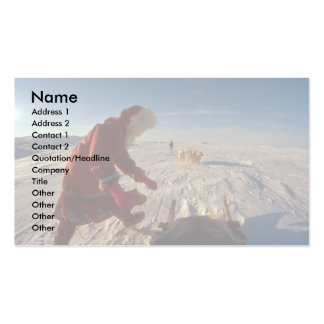 Inuk girl with dog team Pelly Bay Business Card Template