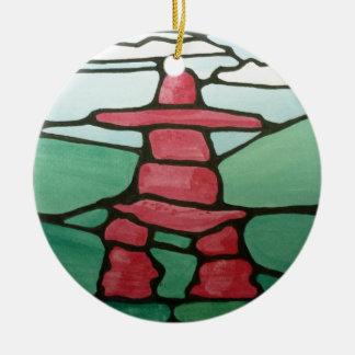 Inukshuk Ceramic Ornament