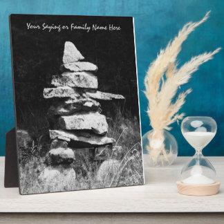 Inukshuk - Stone Man Figure Plaque
