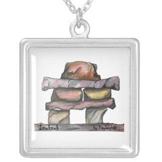 Inuksuk Silver Plated Necklace