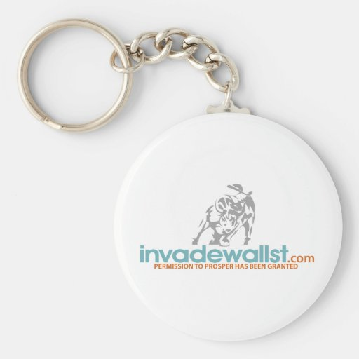 Invade Wall Street Key Chains