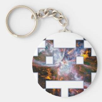 Invader Basic Round Button Key Ring
