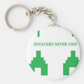 Invaders Basic Round Button Key Ring