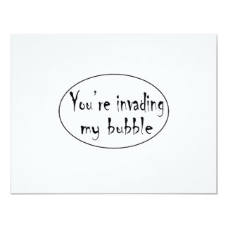Invading My Bubble Personalized Announcement