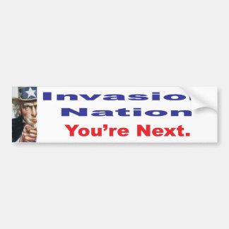Invasion Nation Bumper Sticker