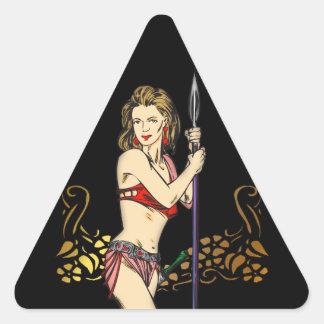Invasion Of Amazon Women Triangle Sticker